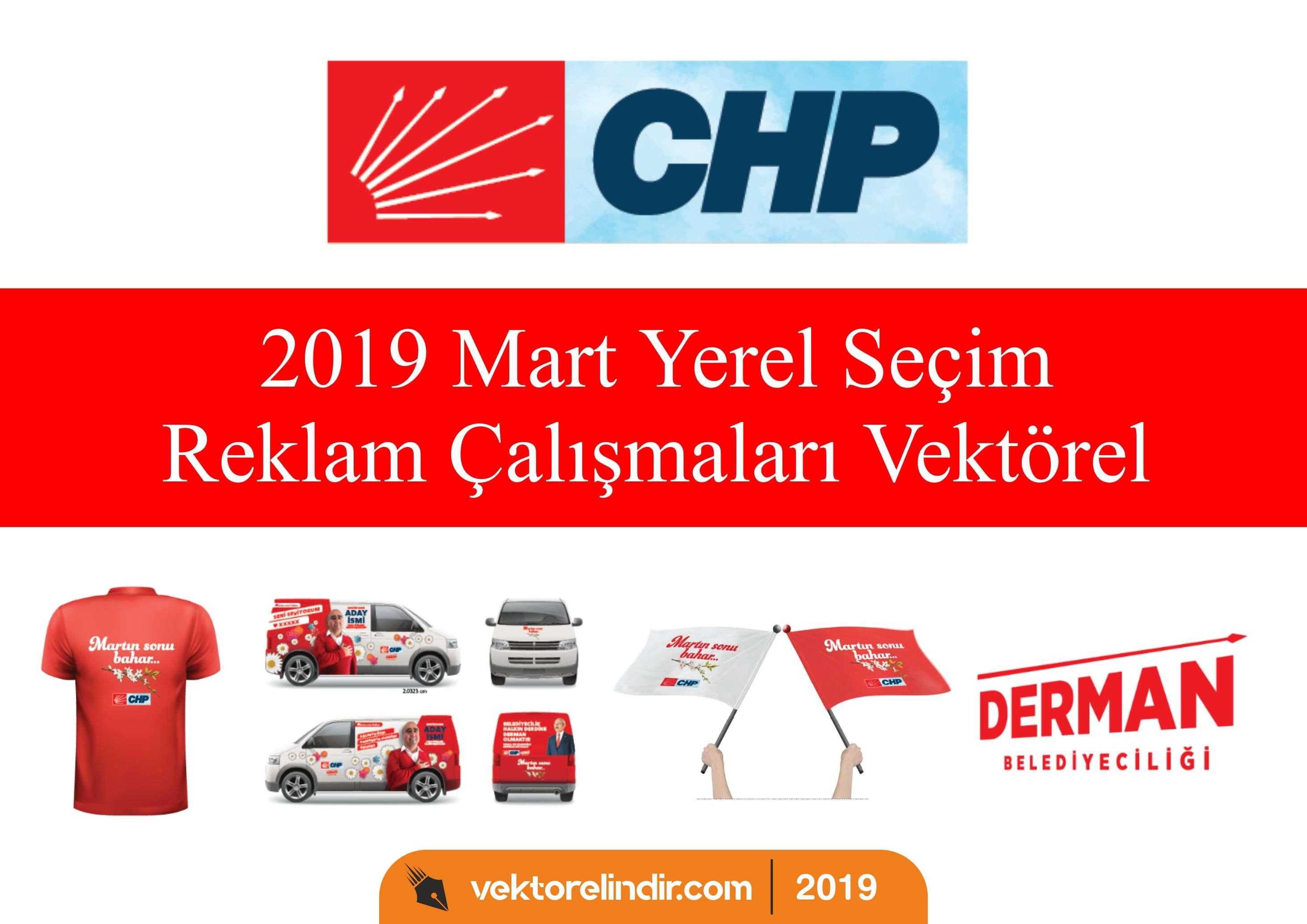 2019 Mart Yerel Seçim Reklam Çalışmaları Vektörel Çizimleri