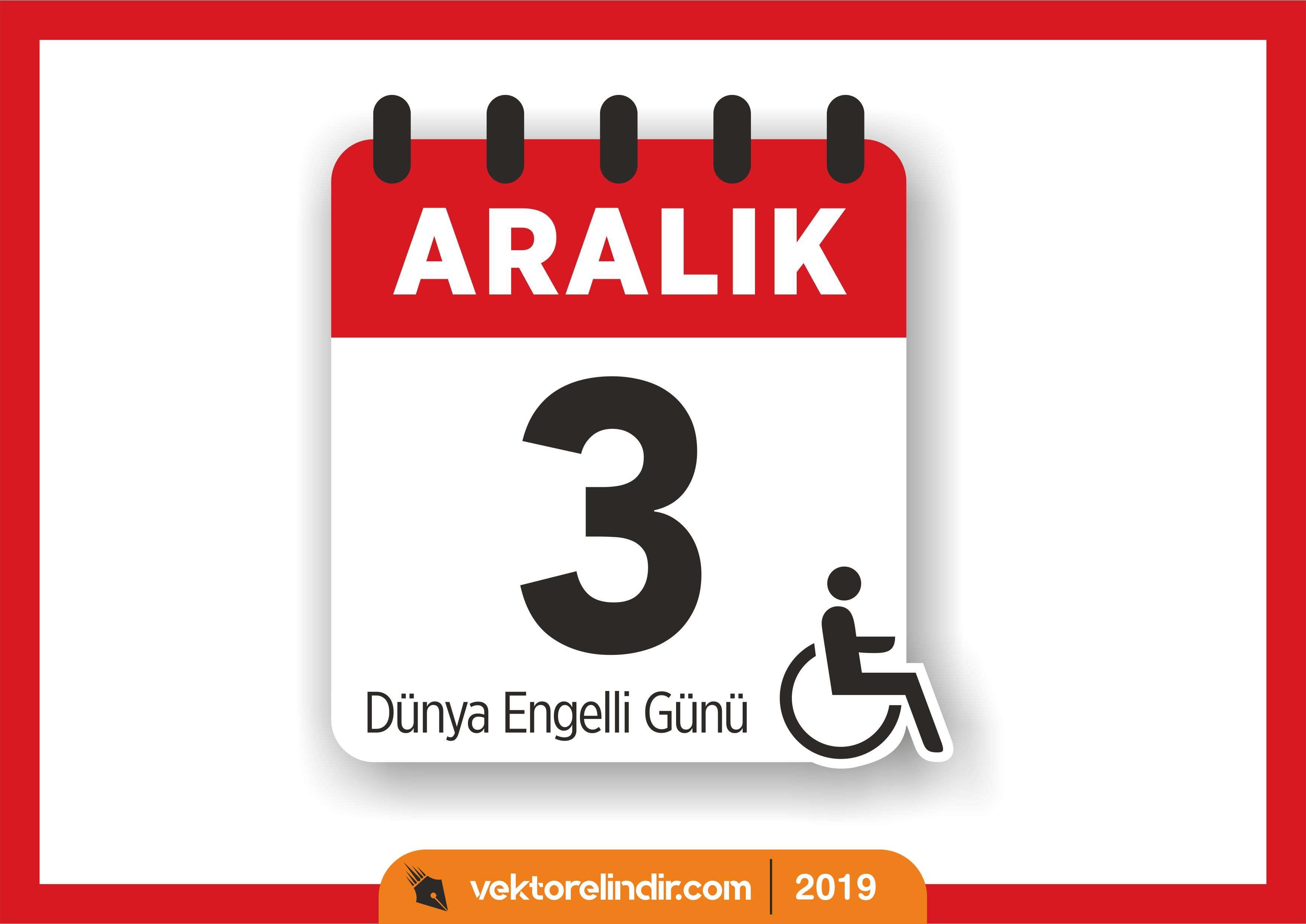 3 Aralık Dünya Engelliler Günü Vektör, Logo