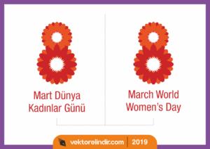 8 Mart Dünya Kadınlar Günü Vektör