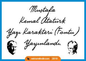 Atatürk Yazı Karakteri Vektörel, Çizim