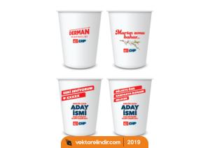 Chp 2019 Yerel Seçim Karton Bardak