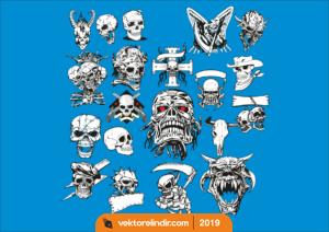 Kuru Kafa, Sticker, Etiket, Skull, Araç