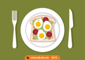 Yumurta, Çatal Bıçak, Kahvaltı, Tabak