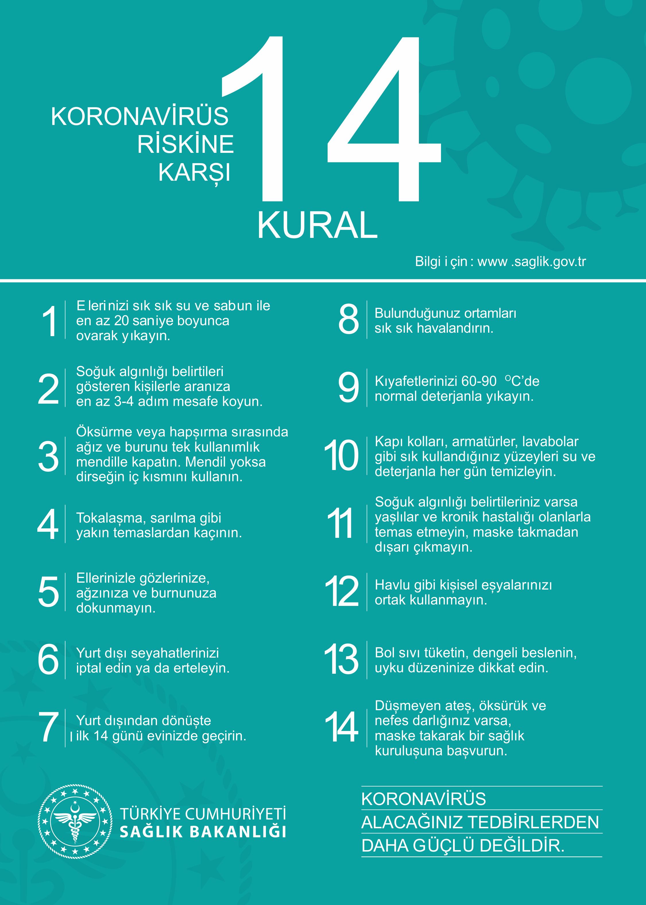 14-kural-corona-virüs