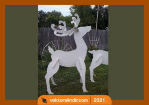 geyik-3d-cnc-kesim-lazer-yılbaşı