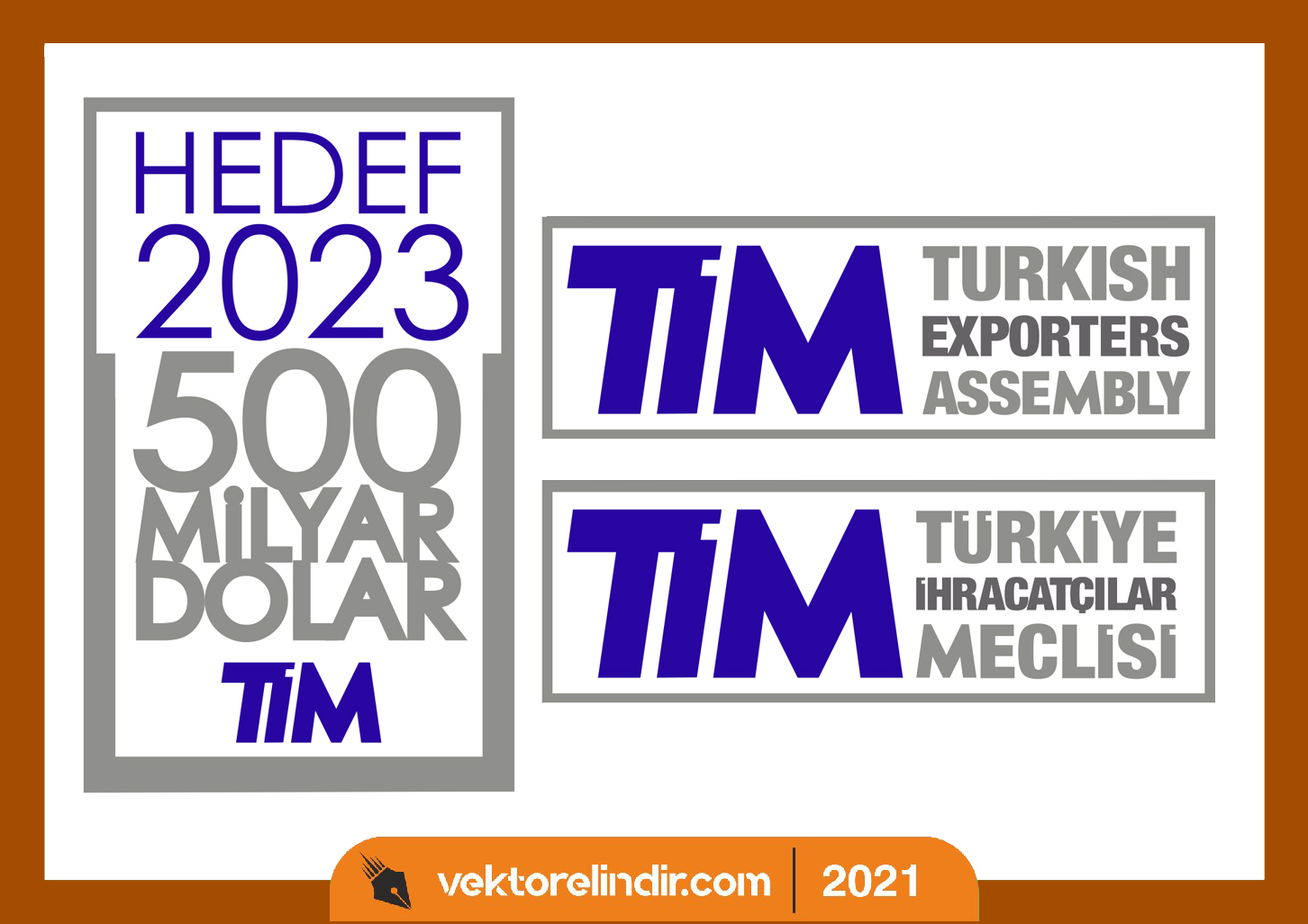 hedef,2023,logo,vektorel,ithalatcılar,meclisi,türkiye