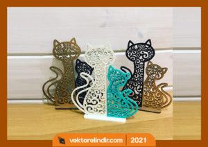 kedi-masa-süsü-pleksi-kesim-cizim-kaligrafi